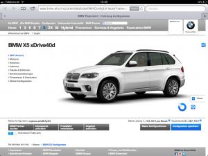 BMW-Konfigurator - Einstieg