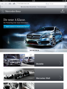 Mercedes-Benz on Tablet - iPad 3