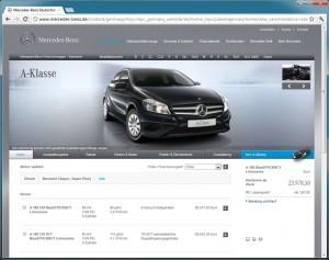Mercedes-Benz Konfigurator Internet