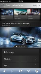 Mercedes-Benz auf dem iPhone 5