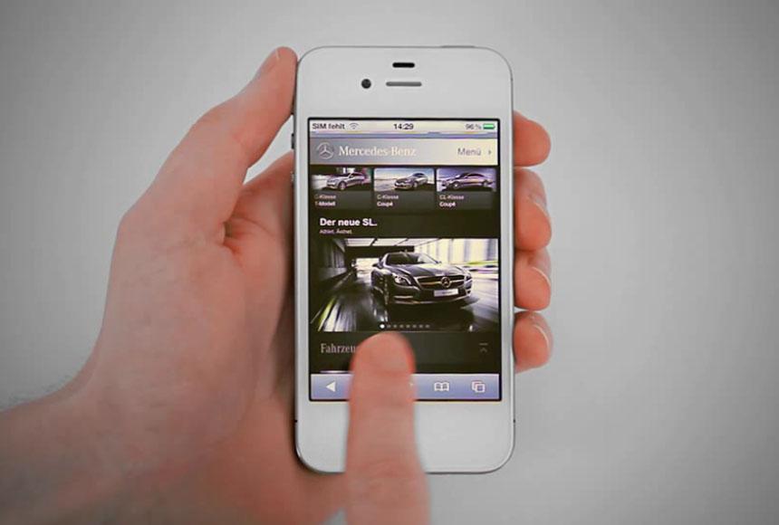 """Mercedes-Benz gewinnt Gold in Kategorie """"Mobile Website"""" - MBP"""