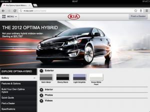 KIA.com - Tablet-Site