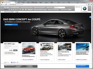 Neue BMW-Website in Deutschland