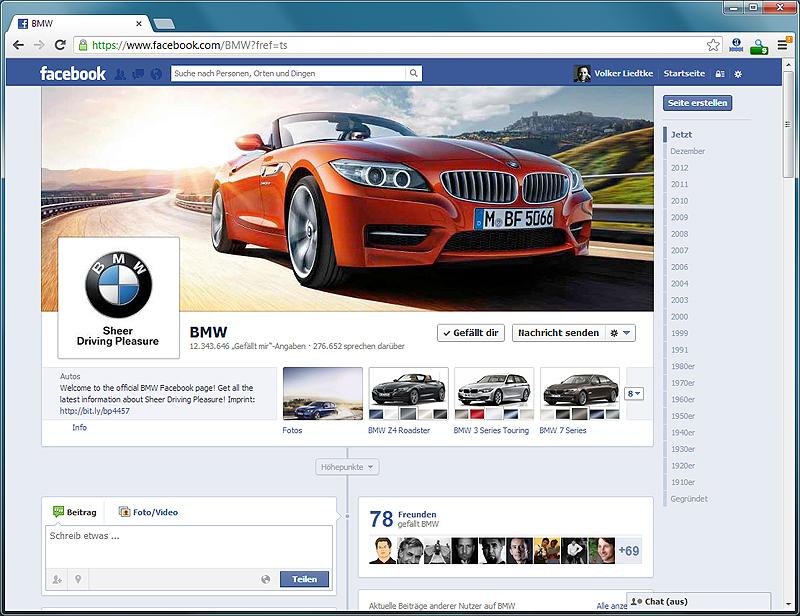 Official BMW Facebook Page (Quelle: Facebook)