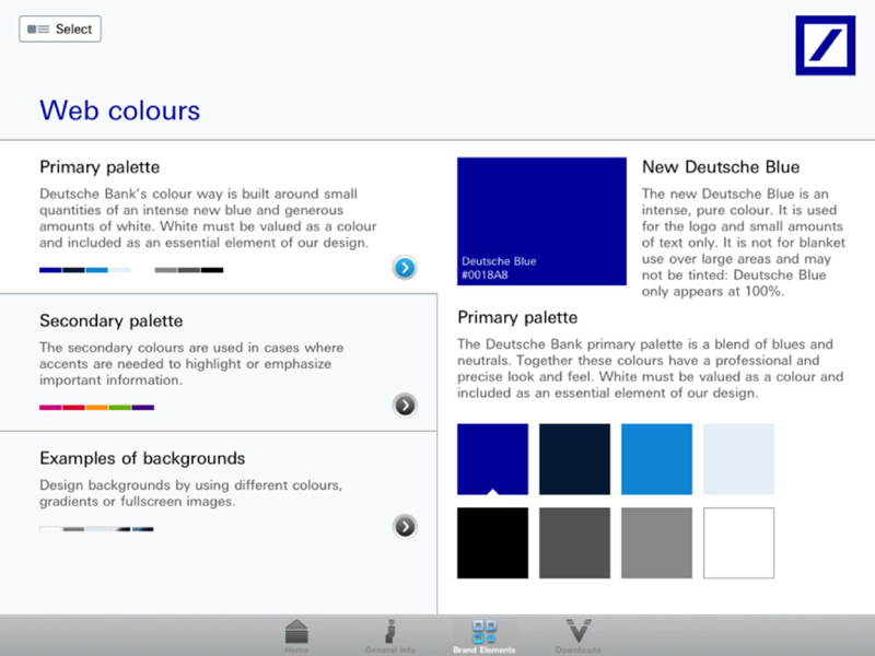 Style Guide App - Farben