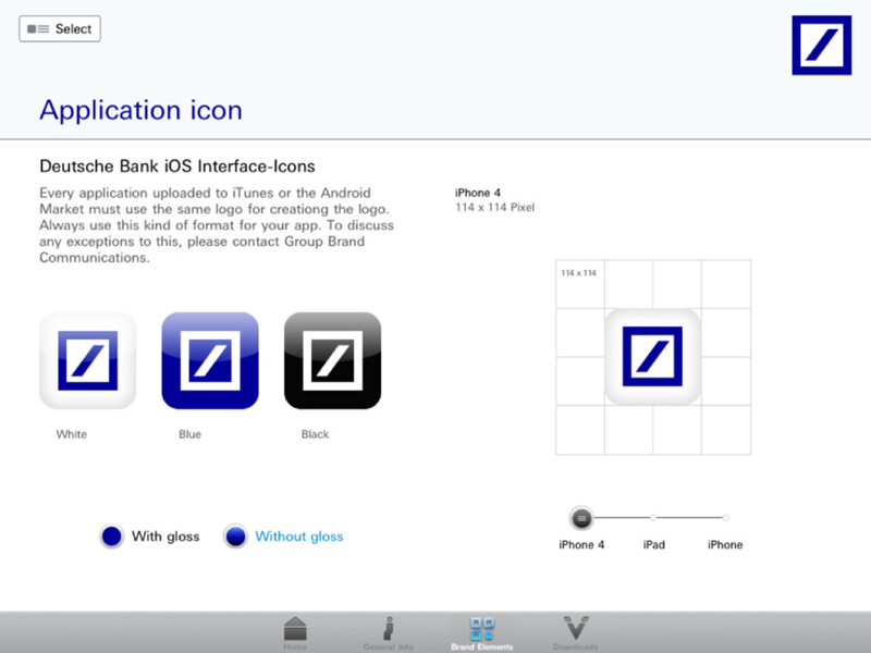 Style Guide App - Logoplatzierung