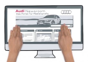 Das Audi News Room ist live. (Quelle: Audi AG)