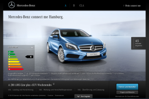 Online-Verkauf von Mercedes: Connect me Hamburg