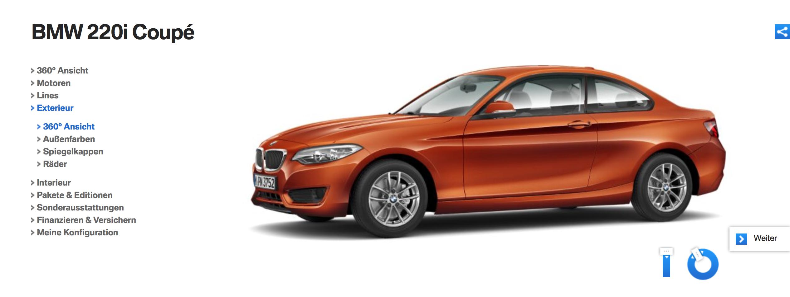 BMW 2er Coupé Konfigurator (Mackevision)