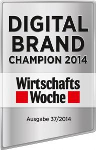 Digital Brand Champion 2014 (Wirtschaftswoche & Diffferent)