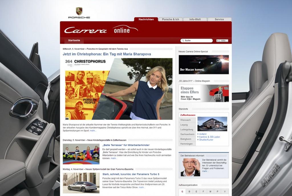 Porsche Intranet - Carrera Online Homepage (Porsche)