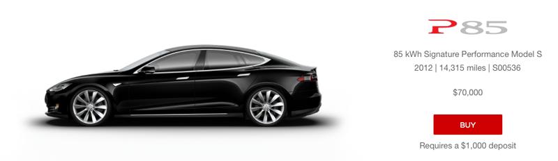 Tesla Model S P85 - gebraucht und online (Tesla) Blogomotive - Inside Automotive Marketing