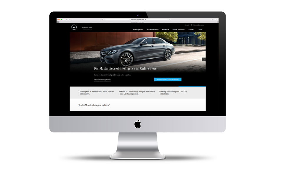 Mercedes-Benz Online Store seit August 2016 live (Website Daimler)