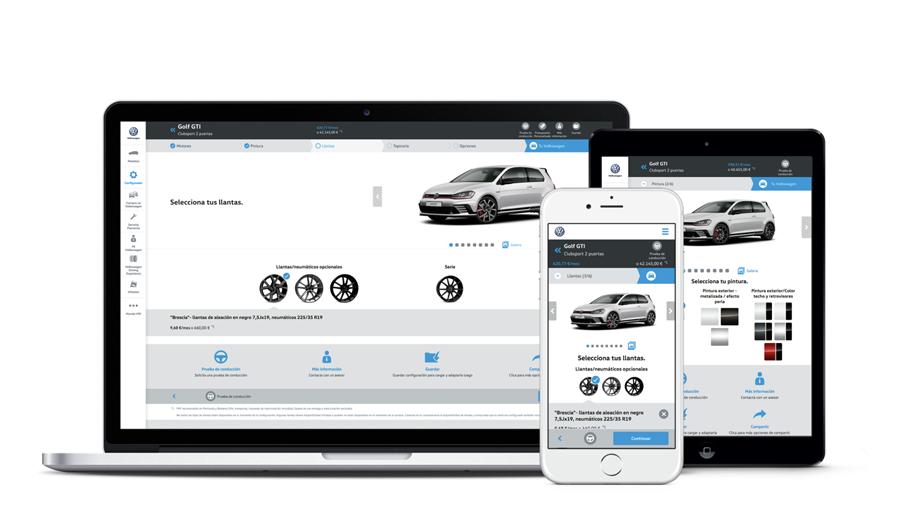 Konfigurator von VW - Felgen (Website Screenshots)