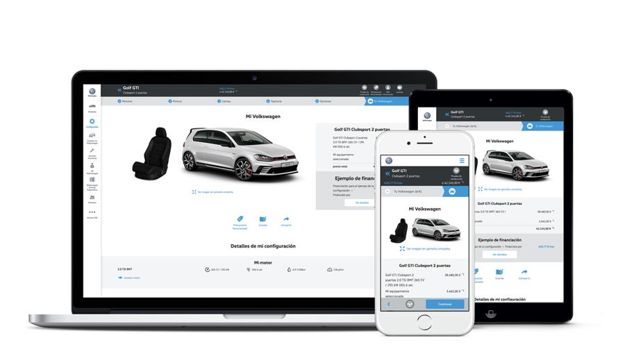 Konfigurator von VW - Sitze (Website Screenshots)