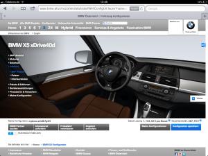 BMW-Konfigurator – Innenraum