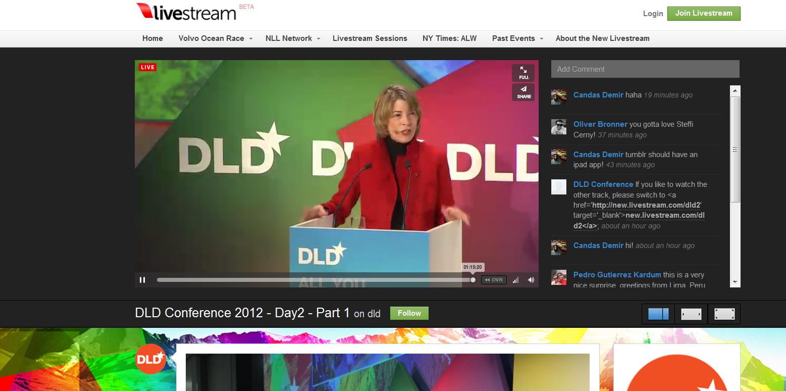 DLD Konferenz Live Stream