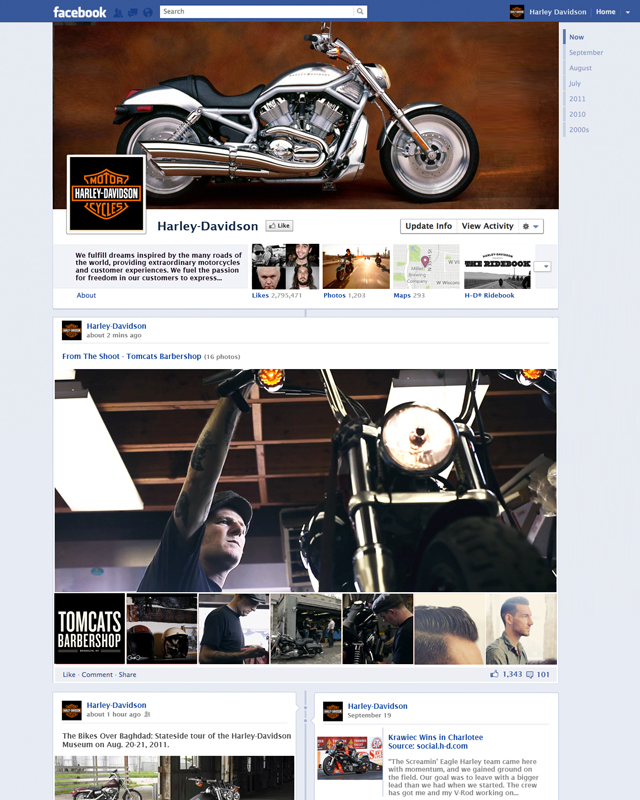 Facebook Timeline - Harley Davidson Mockup