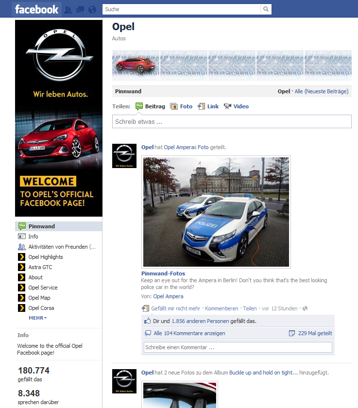 Opel Facebook - International