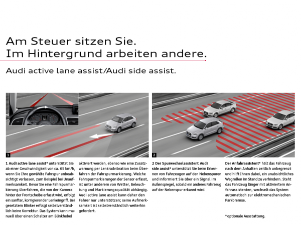Audi eKatalog Q3 assist