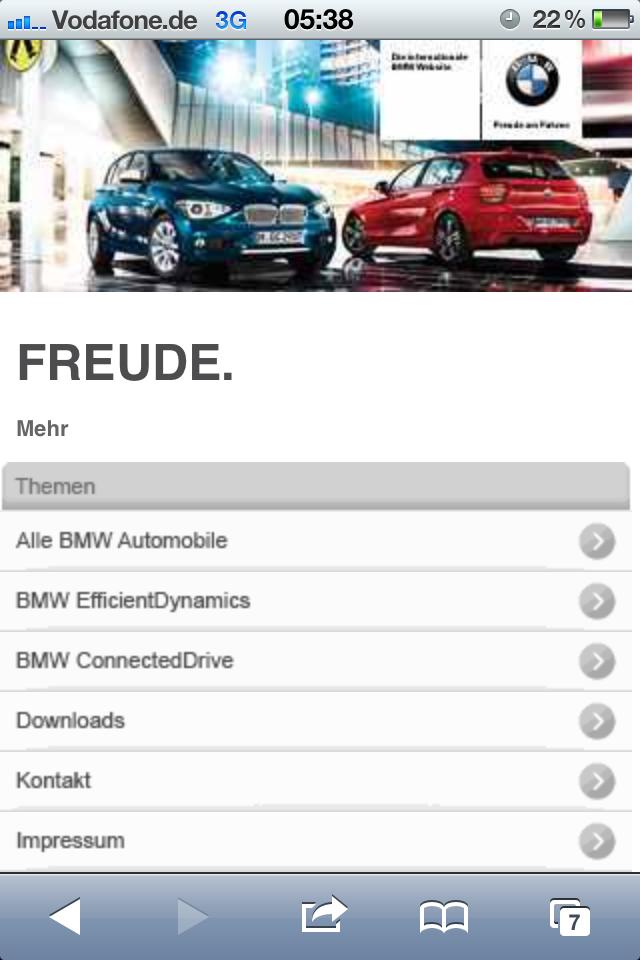 BMW Mobile Brand Portal