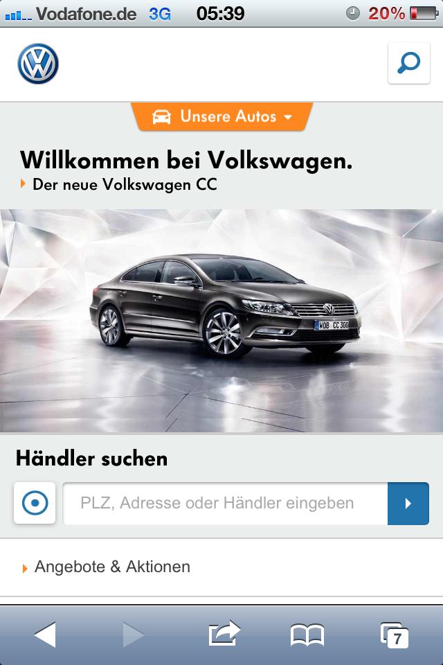 VW Mobile Brand Portal