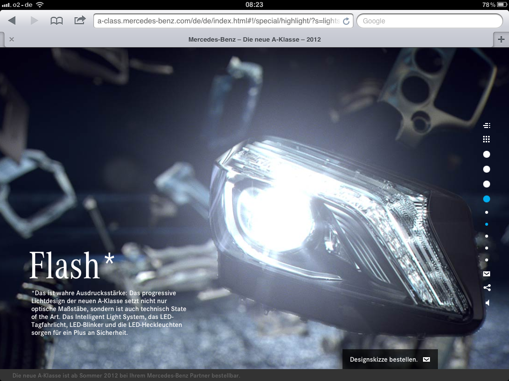 A-Klasse Web-Special Flash