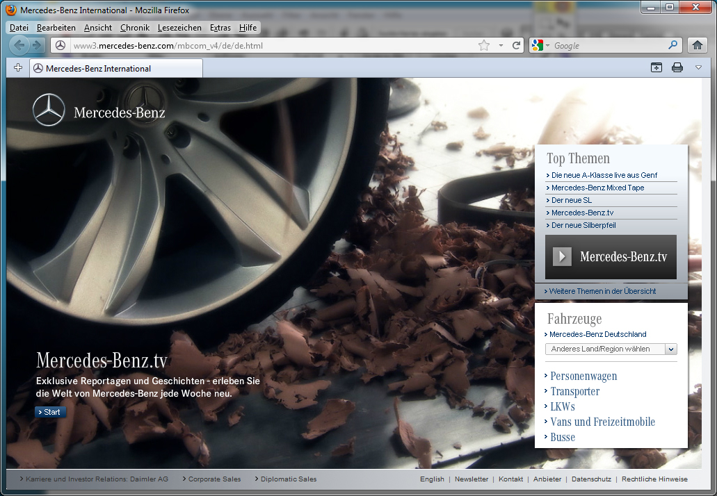 Mercedes-Benz internationales Markenportal 2 - alt