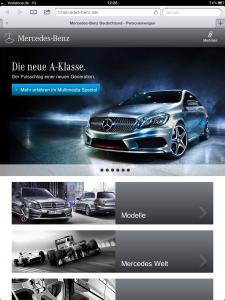 Mercedes-Benz on Tablet - iPad 3
