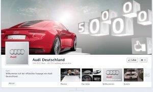 Audi Deutschland auf Facebook: 500.000 Fans