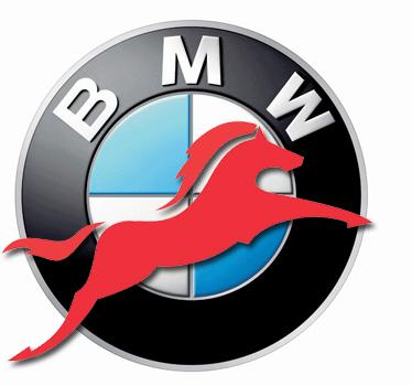 BMW reitet.