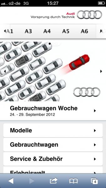 Audi auf dem iPhone 5