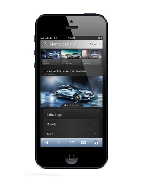 Mercedes auf dem iPhone 5