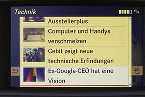 Comand Online App Nachrichten (Quelle: Daimler AG)