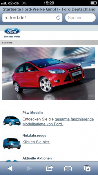 Ford auf dem iPhone 5
