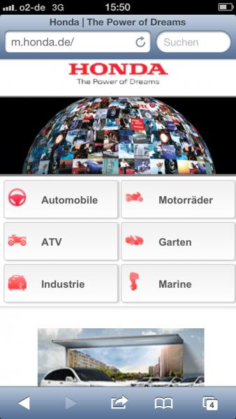 Honda auf dem iPhone 5