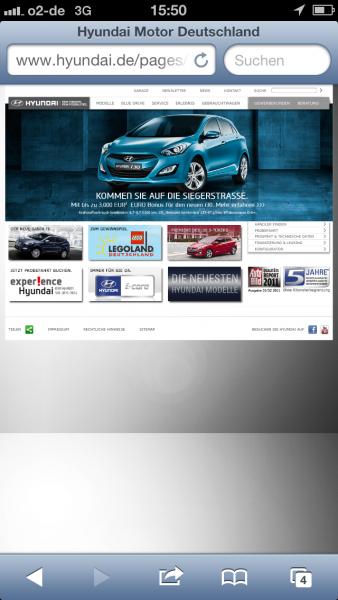 Hyundai auf dem iPhone 5