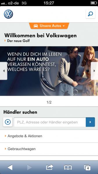 Volkswagen auf dem iPhone 5
