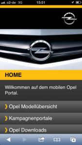 Opel auf dem iPhone 5