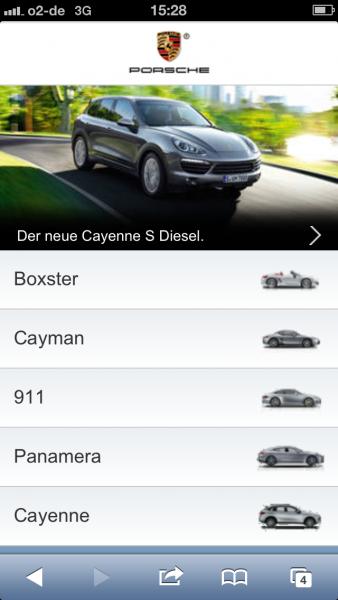 Porsche auf dem iPhone 5