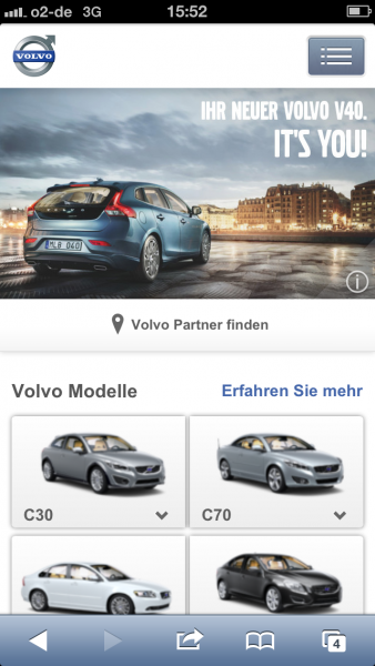 Volvo auf dem iPhone 5