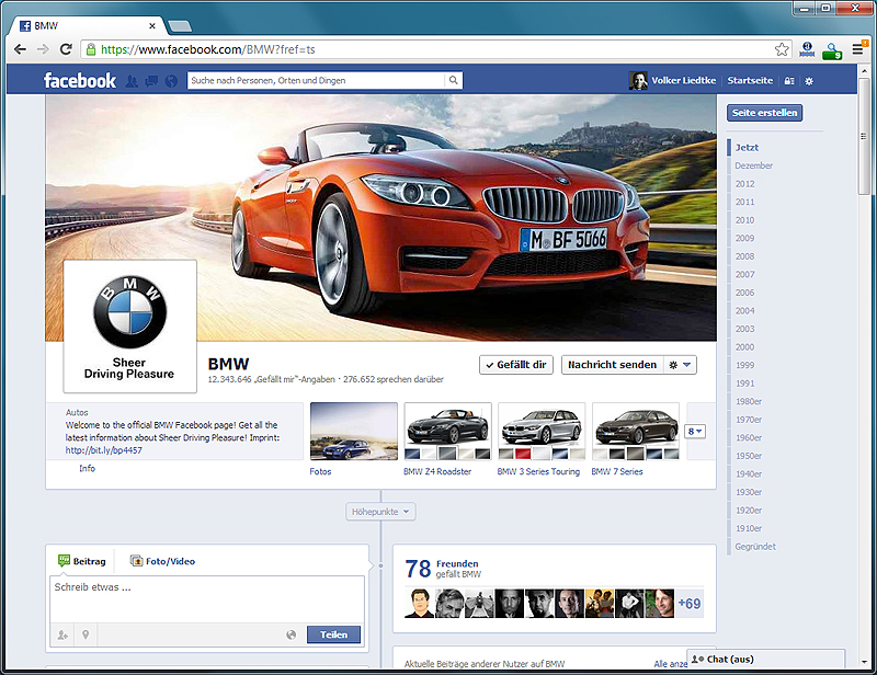 Official BMW Facebook Page (Quelle: Facebook)