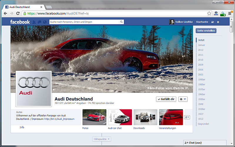 Audi Deutschland @ The Facebook