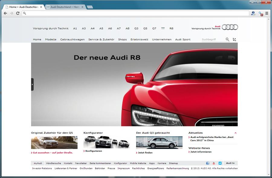 Neues Markenportal von Audi - Blogomotive