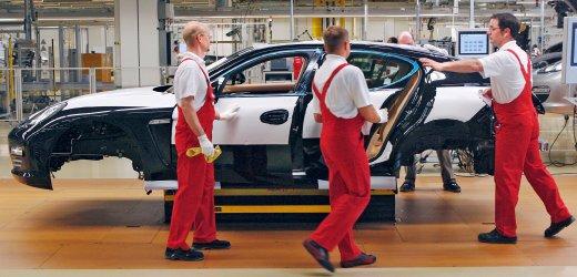 Produktion in Leipzig (Quelle: Porsche)