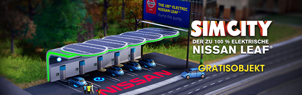 Nissan Leaf Ladestation in SimCity (Quelle: origin.com)