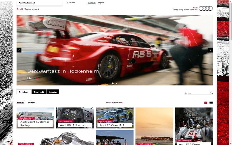 Audi Motorsportportal - ab Mai 2013