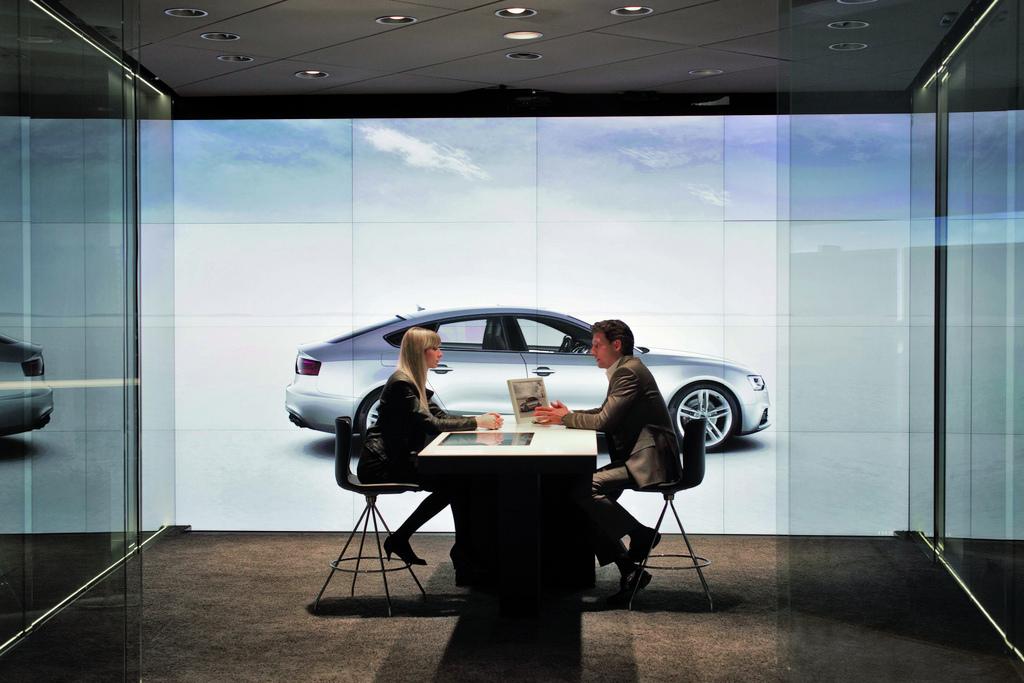 Audi City - Metropolis Cyberstore in London (Quelle: Audi)