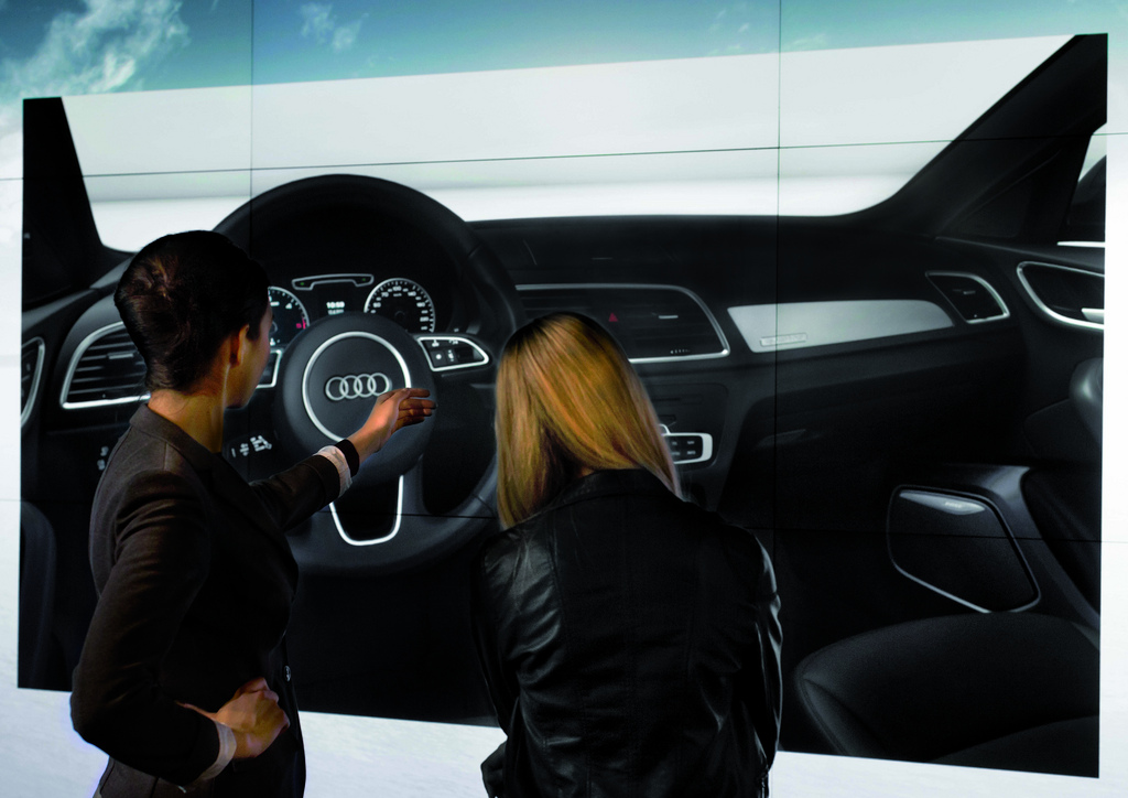 Alles auf einem Blick, in einem Raum: Audi Cyberstore (Quelle: Audi)
