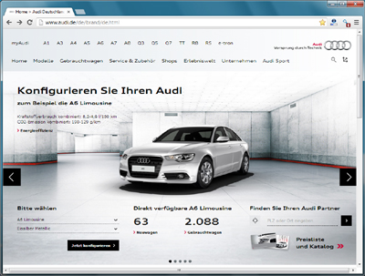 Audi - neues Markenportal - Home